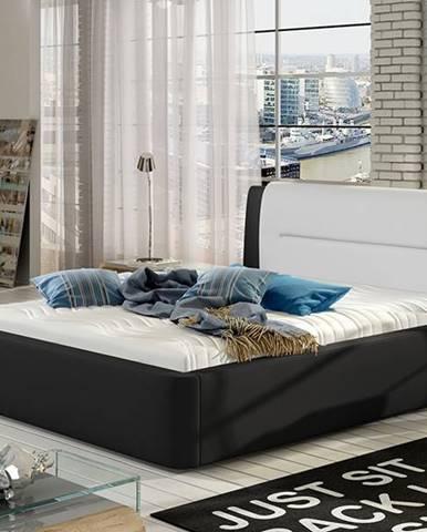 Portima 160 čalúnená manželská posteľ čierna