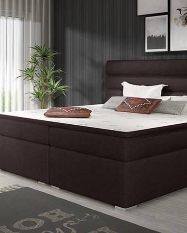 Spezia 180 čalúnená manželská posteľ s úložným priestorom tmavohnedá