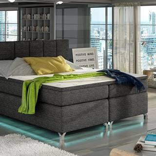 Barino 160 čalúnená manželská posteľ s úložným priestorom čierna (Berlin 02)