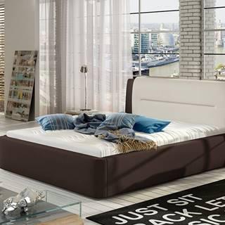 Portima 160 čalúnená manželská posteľ tmavohnedá (Soft 66)