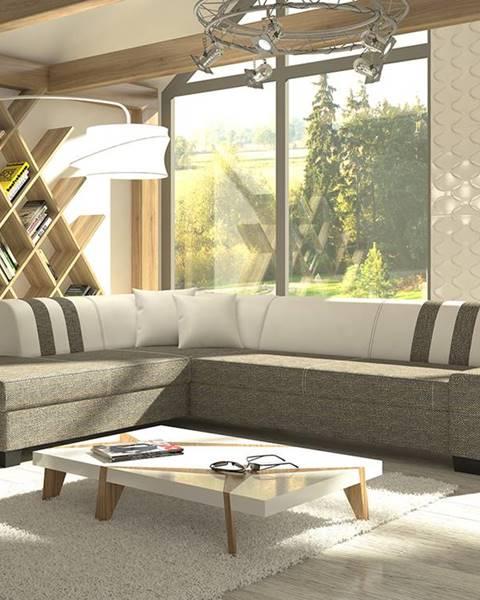 NABBI Pinero II L rohová sedačka s rozkladom a úložným priestorom sivá (Berlin 01)