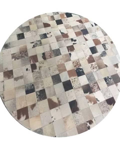 Kondela Typ 10 kožený koberec 200x200 cm vzor patchwork