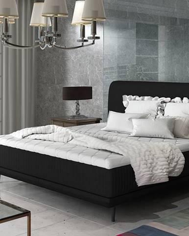 Ancona 180 čalúnená manželská posteľ čierna (Ontario 100)