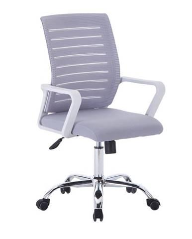Cage kancelárska stolička s podrúčkami sivá
