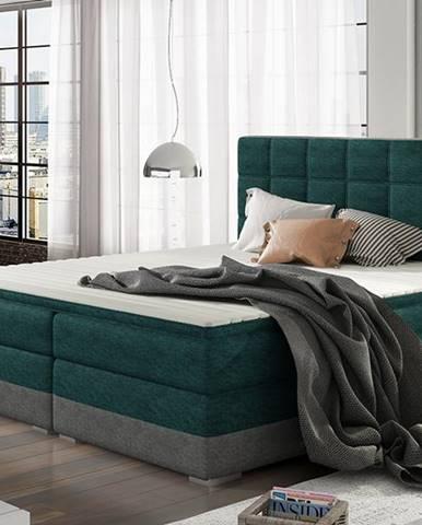 Dalino 140 čalúnená manželská posteľ s úložným priestorom svetlomodrá