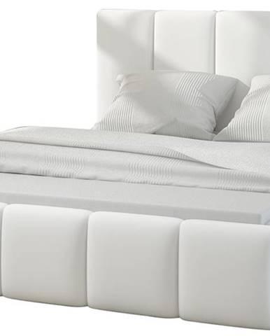 Evora 140 čalúnená manželská posteľ biela