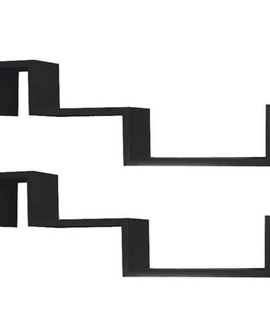 Fri New poličky (2 ks) čierna