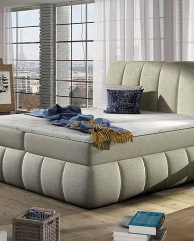 Vareso 160 čalúnená manželská posteľ s úložným priestorom béžová (Dora 21)