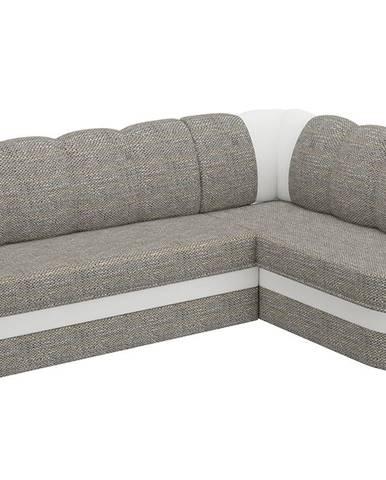 Belluno P rohová sedačka s rozkladom a úložným priestorom sivá