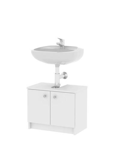 Galena SI02 kúpeľňová skrinka pod umývadlo biela