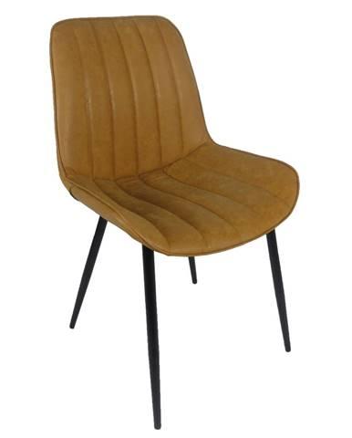 Hazal jedálenská stolička hnedá camel