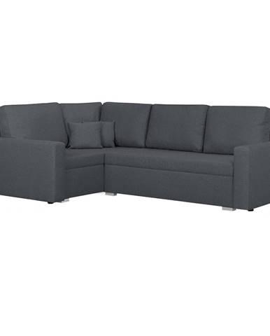 Milor L rohová sedačka s rozkladom a úložným priestorom sivá