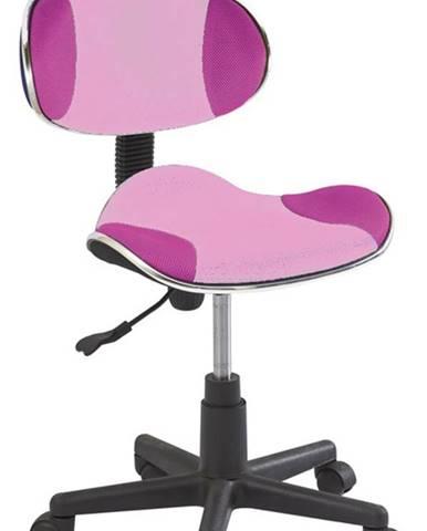 Q-G2 kancelárska stolička ružová