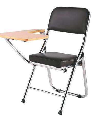Teker konferenčná stolička s doskou na písanie čierna