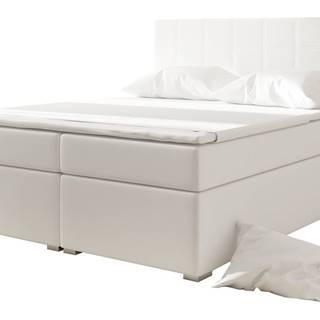 Anzia 140 čalúnená manželská posteľ s úložným priestorom biela