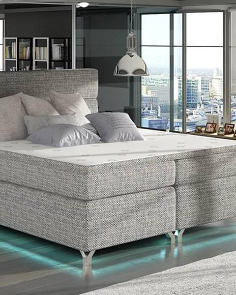 NABBI Avellino 180 čalúnená manželská posteľ s úložným priestorom sivá (Berlin 01)