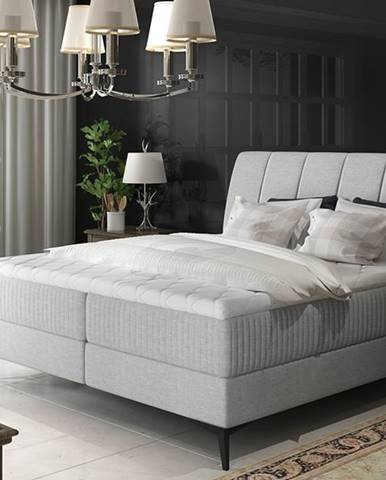 Altama 160 čalúnená manželská posteľ s úložným priestorom svetlosivá (Cover 83)