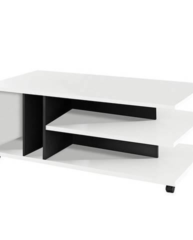 Dasti konferenčný stolík na kolieskach biela