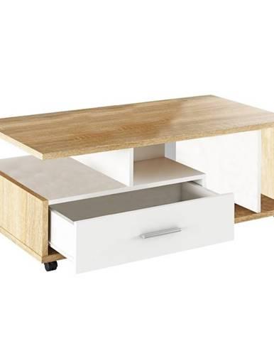 Dechen konferenčný stolík na kolieskach dub sonoma