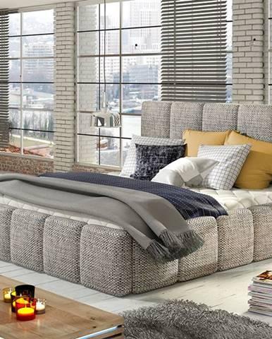 Evora 160 čalúnená manželská posteľ sivá (Berlin 01)