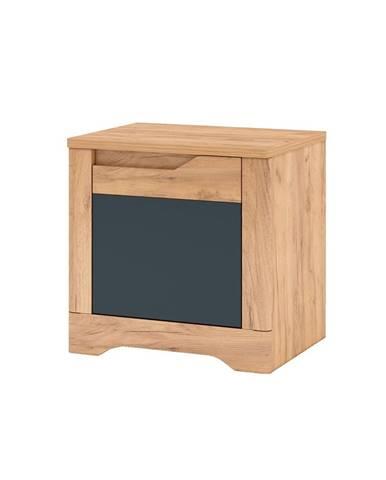 Fidel X2 P nočný stolík dub craft zlatý