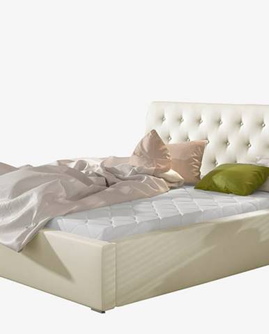 Monzo UP 160 čalúnená manželská posteľ s roštom béžová