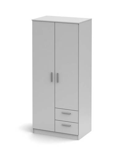 Noko-Singa 81 2D šatníková skriňa biela