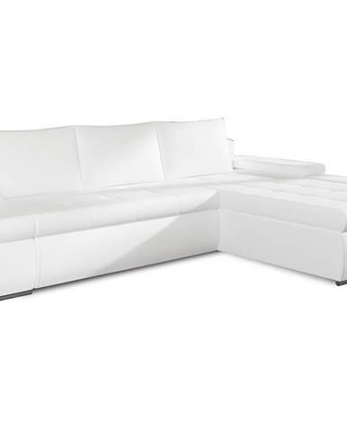 Oristano P rohová sedačka s rozkladom a úložným priestorom biela