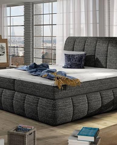 Vareso 160 čalúnená manželská posteľ s úložným priestorom čierna (Berlin 02)