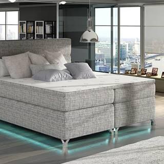 Avellino 180 čalúnená manželská posteľ s úložným priestorom sivá (Berlin 01)
