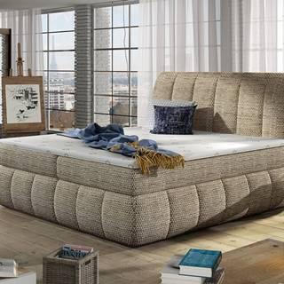 Vareso 160 čalúnená manželská posteľ s úložným priestorom cappuccino