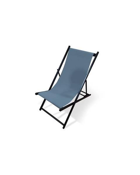 Le Bonom Sivé skladacie záhradné ležadlo Le Bonom Deck, dĺžka 106 cm