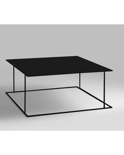 Custom Form Čierny konferenčný stolík Custom Form Walt, 80 × 80 cm
