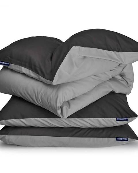 Sleepwise Sleepwise Soft Wonder-Edition, posteľná bielizeň, 200 x 200 cm, tmavosivá/svetlosivá