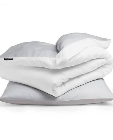Sleepwise Soft Wonder-Edition, posteľná bielizeň, svetlosivá/biela, 135 x 200 cm, 80 x 80 cm