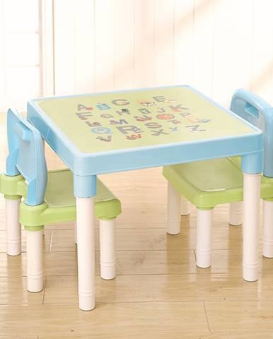 Tempo Kondela, s.r.o. Dětský set 1+2, modrá/zelená/bílá, BALTO