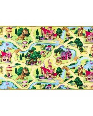 Vopi Dětský koberec Rozprávková dedinka, 133 x 133 cm, 130 x 130 cm