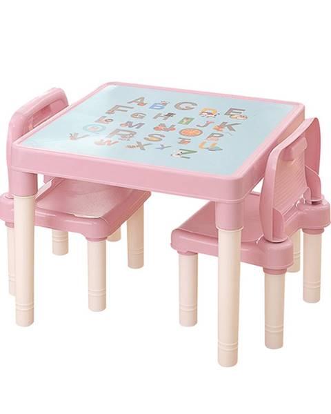 Plastia Tempo Kondela, s.r.o. Dětský set 1+2, růžová/korálová, BALTO