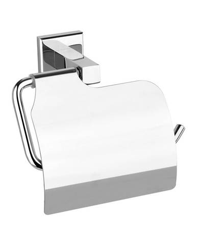 Fala Držiak toaletného papiera s krytom Quad Chrom, 14 x 10 x 7 cm