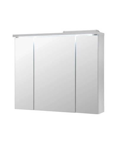 Zrkadlová skrinka POOL biela vysoký lesk, 80 cm