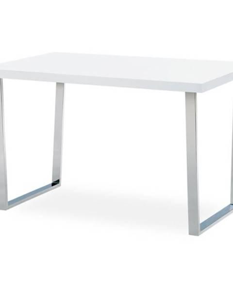 Sconto Jedálenský stôl LUIS biely, šírka 120 cm
