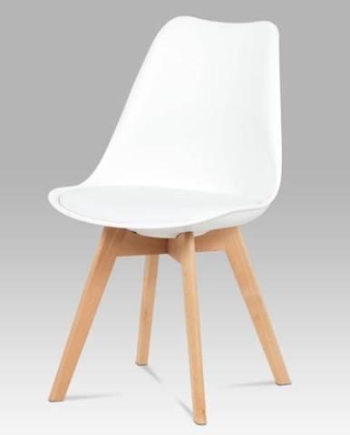 Jedálenská stolička SABRINA biela/buk