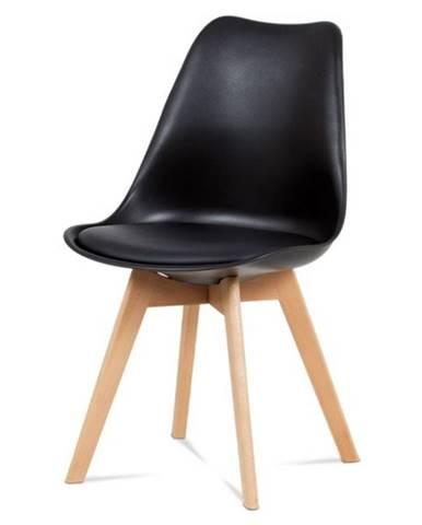 Jedálenská stolička SABRINA čierna/buk