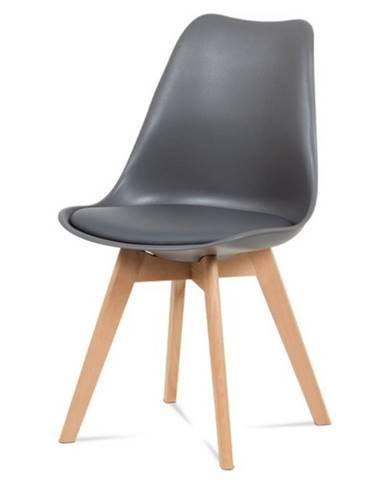 Jedálenská stolička SABRINA sivá/buk