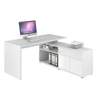 Rohový písací stôl ARLO biela
