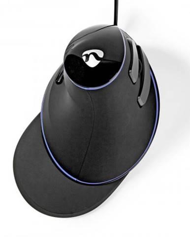 Káblová ergonomická myš Nedis ERGOMSWD200BK, čierna