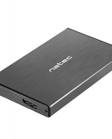Externý box pre HDD 2,5'' USB 3.0 Natec Rhino Go, hliník, čierny