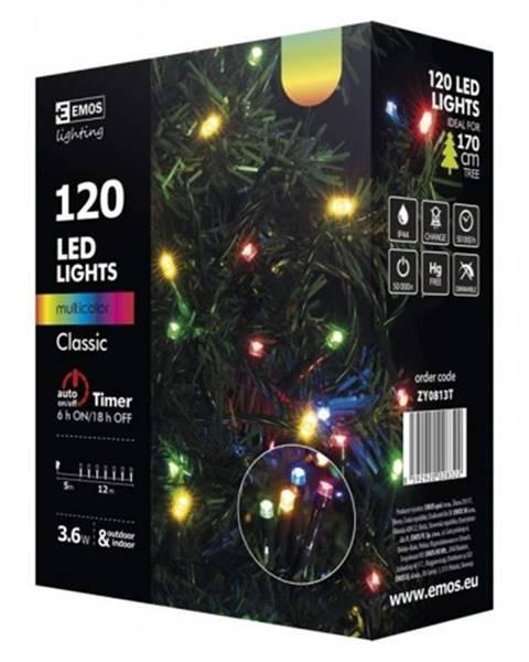 EMOS Vianočné osvetlenie Emos ZY0813T, farebné, 12 m