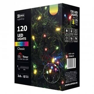 Vianočné osvetlenie Emos ZY0813T, farebné, 12 m