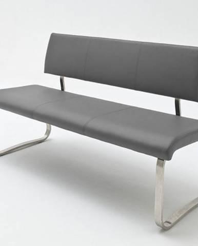 Jedálenská lavica Lucile sivá